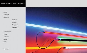 Screenshot of the webpage www.light-art.org
